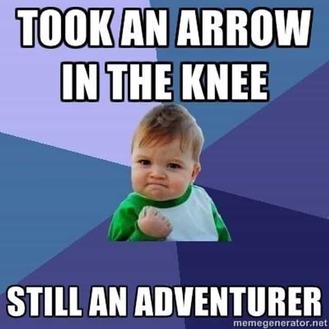 Success Kid Meme is listed (or ranked) 2 on the list The Very Best of the Skyrim 'Arrow in the Knee' Meme