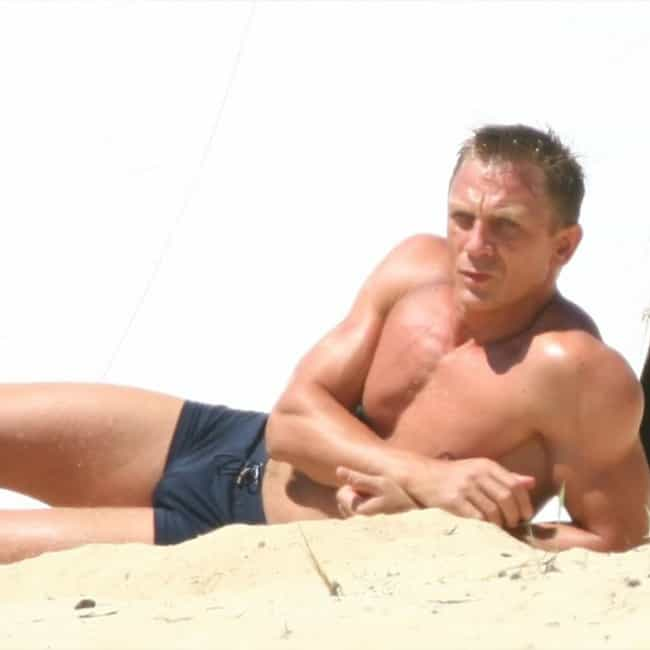 Daniel Craig in Satin Short Sh... is listed (or ranked) 2 on the list Hot Daniel Craig Photos