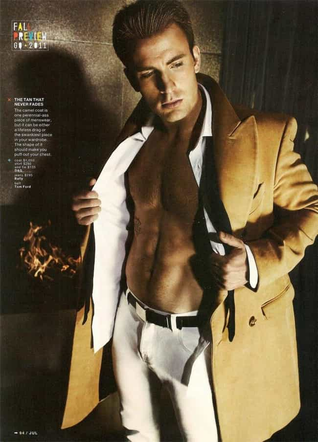 Chris Evans in Slim Fit Cord B... is listed (or ranked) 3 on the list Hot Chris Evans Photos