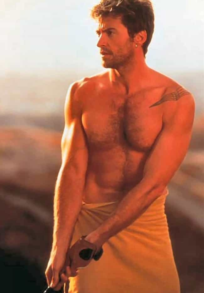 Hugh Jackman in Yellow Bath To... is listed (or ranked) 2 on the list Hot Hugh Jackman Photos
