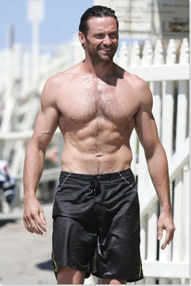 Hugh Jackman in Setter Swim Sh... is listed (or ranked) 1 on the list Hot Hugh Jackman Photos