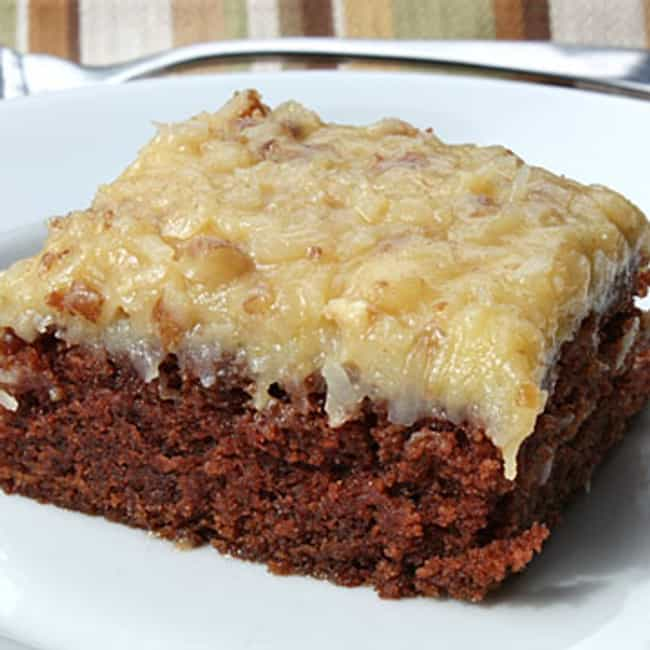 German Chocolate Cake Sq... is listed (or ranked) 3 on the list The Best Bakers Square Recipes