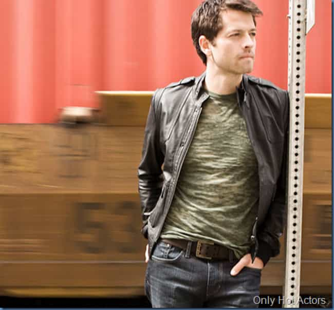Misha Collins in Biker Leather... is listed (or ranked) 4 on the list Hot Misha Collins Photos