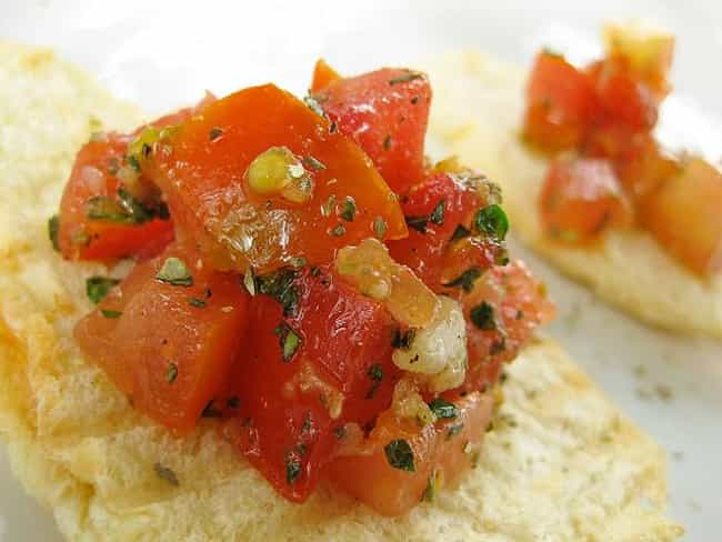 Bruschetta is listed (or ranked) 3 on the list Buca di Beppo Recipes