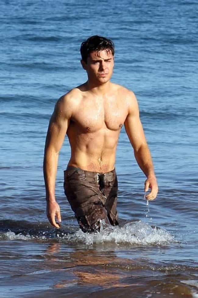 Zac Efron in Wet Brown Short is listed (or ranked) 4 on the list Hot Zac Efron Photos