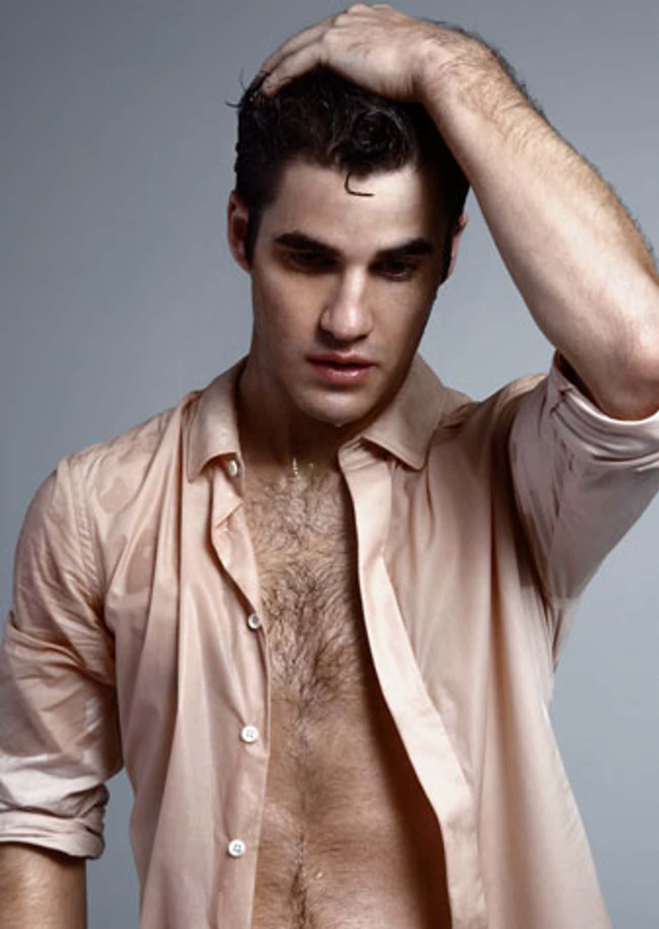Darren Criss in Beige Wet Long is listed (or ranked) 2 on the list Hot Darren Criss Photos