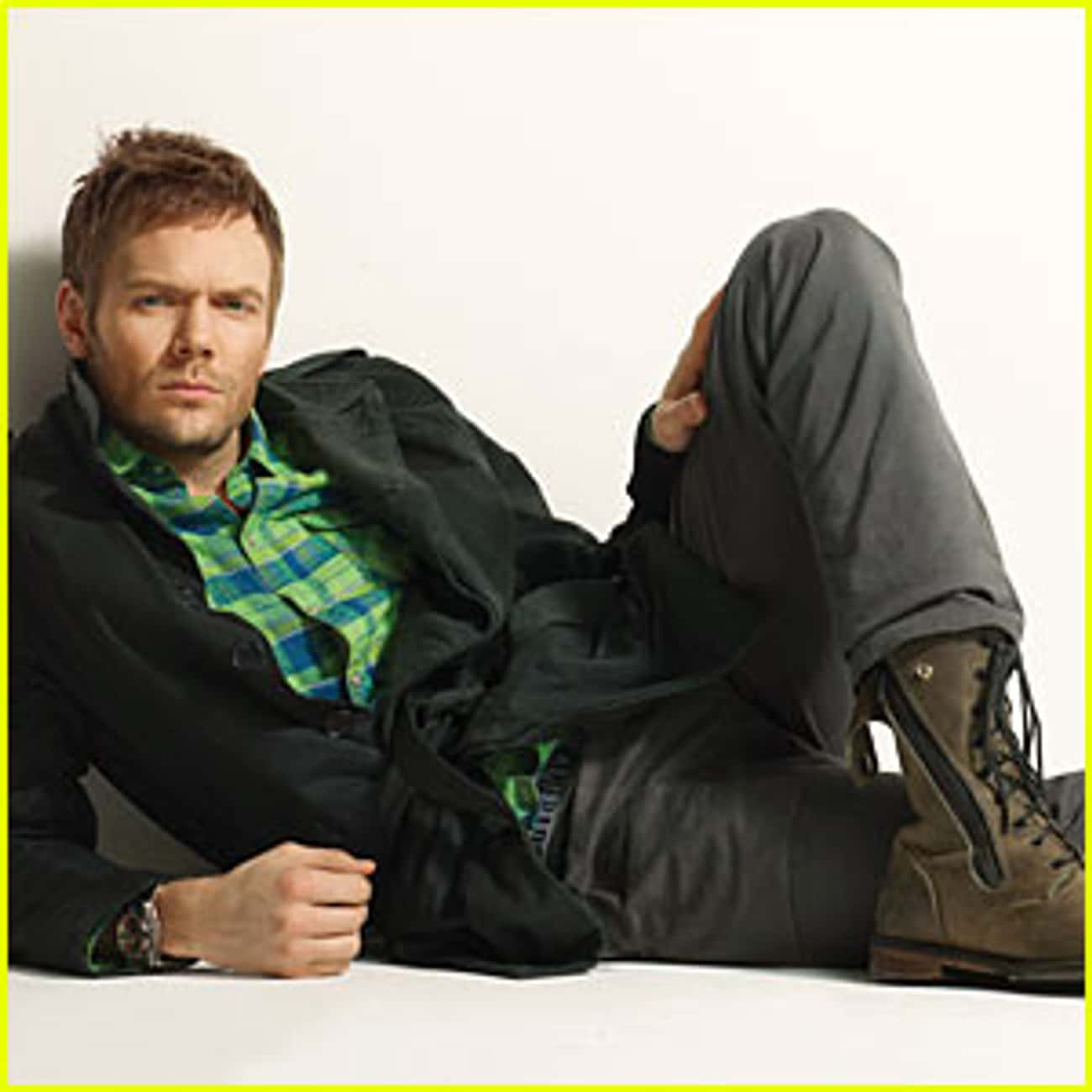 Joel McHale in French Connection Belted Coat