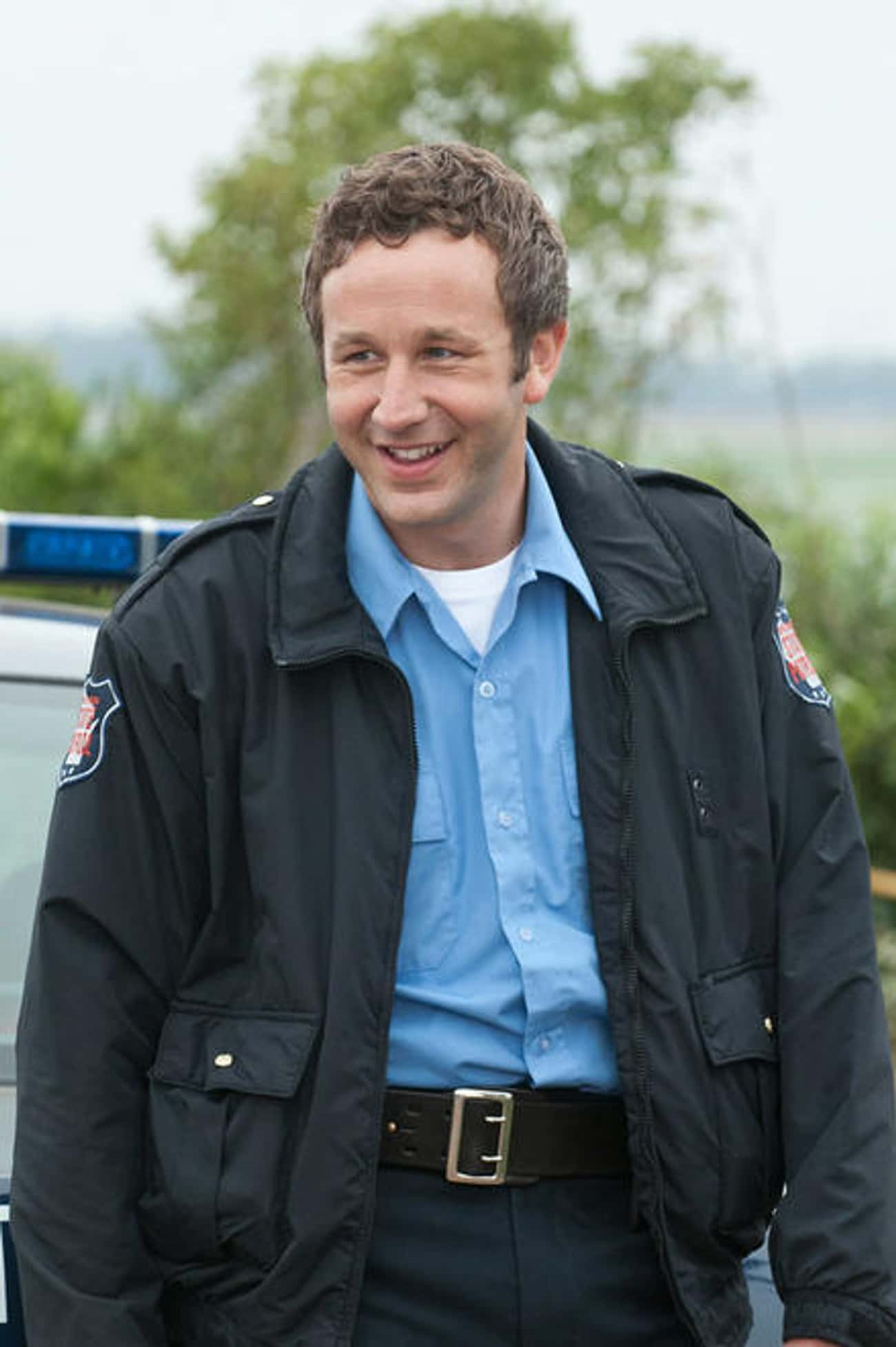 Chris O'Dowd in Police Office Jacket