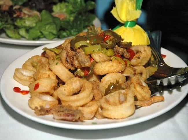Pan Fried Calamari with ... is listed (or ranked) 4 on the list Capital Grille Recipes