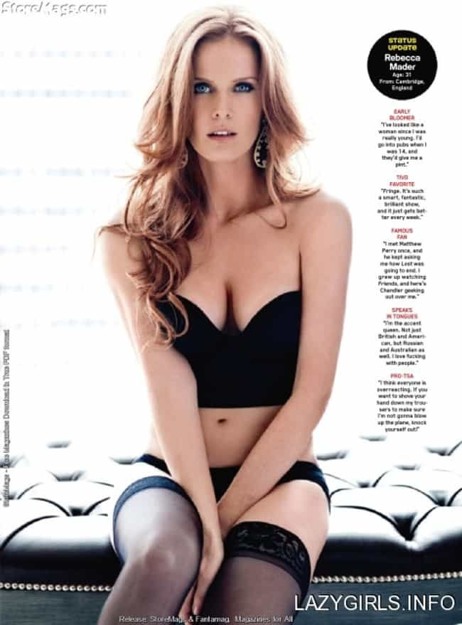 Rebecca Mader in Hearty Bandea... is listed (or ranked) 1 on the list Hottest Rebecca Mader Photos