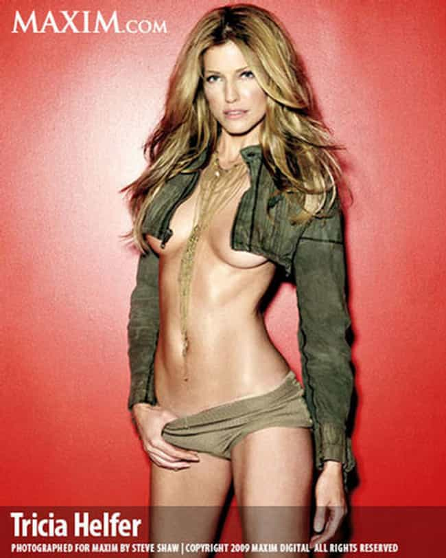 Tricia Helfer in Cropped Denim... is listed (or ranked) 3 on the list Hottest Tricia Helfer Photos