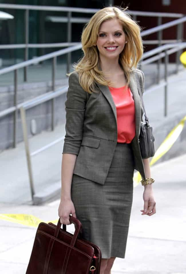 Dreama Walker in Tweed Pocket ... is listed (or ranked) 7 on the list The Most Stunning Dreama Walker Photos