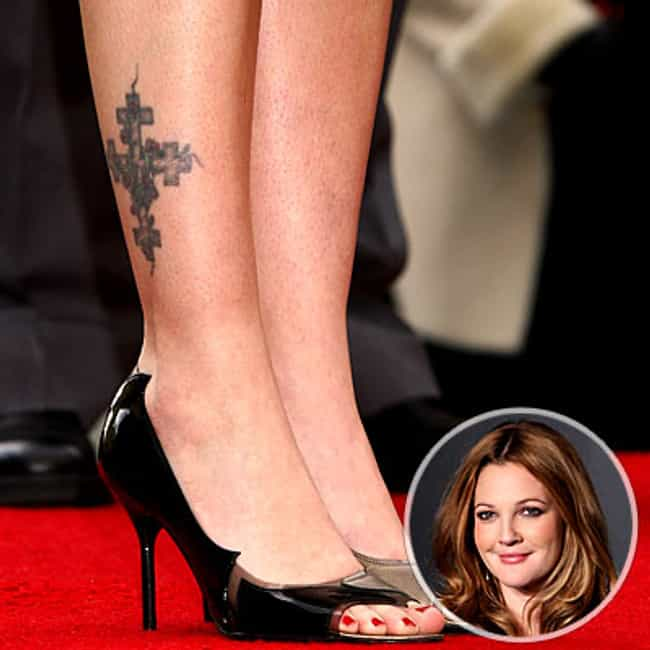 Celtic Cross Is Listed Or Ranked 2 On The List Drew Barrymore Tattoos