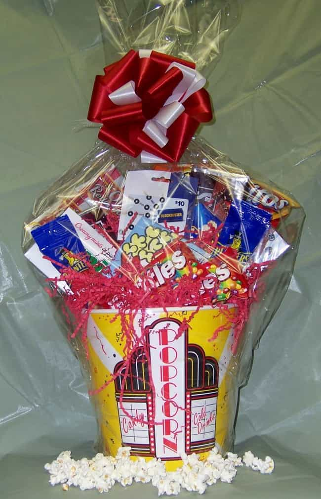 Movie Night Themed Basket is listed (or ranked) 3 on the list The Top Ten Bridal Shower Prize Basket Ideas