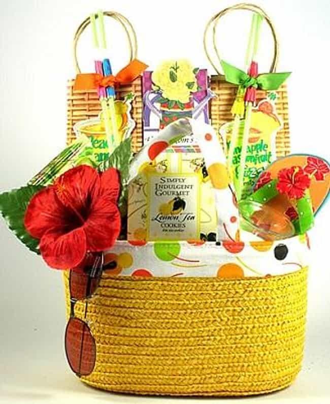 summer themed basket