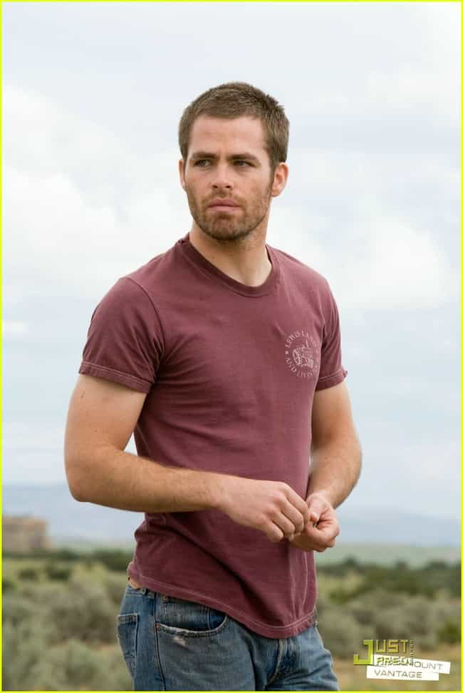 Chris Pine in Levis Land T-Shi... is listed (or ranked) 2 on the list Hot Chris Pine Photos