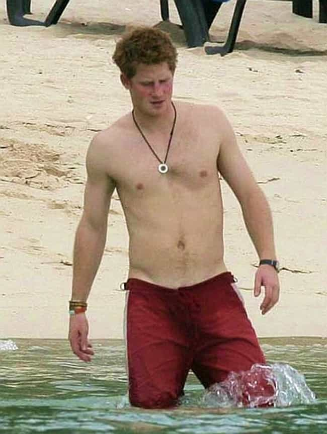 Prince Harry in Red Beach Shor... is listed (or ranked) 2 on the list Hot Prince Harry Photos