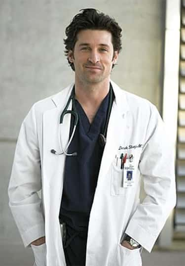 Patrick Dempsey in Doctor Laboratory Gown