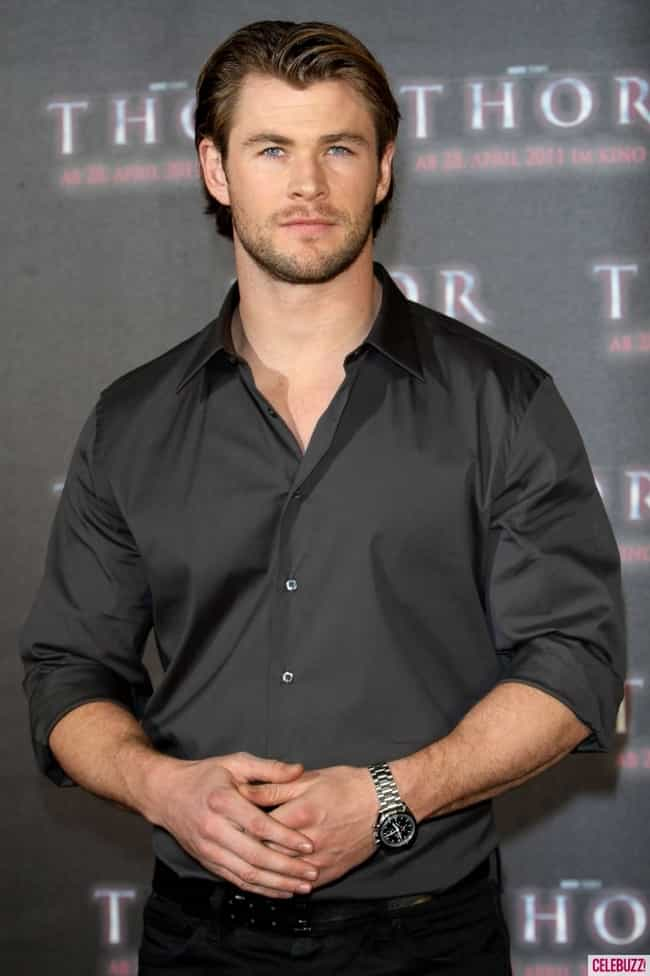 Chris Hemsworth in Black Satin... is listed (or ranked) 3 on the list Hot Chris Hemsworth Photos