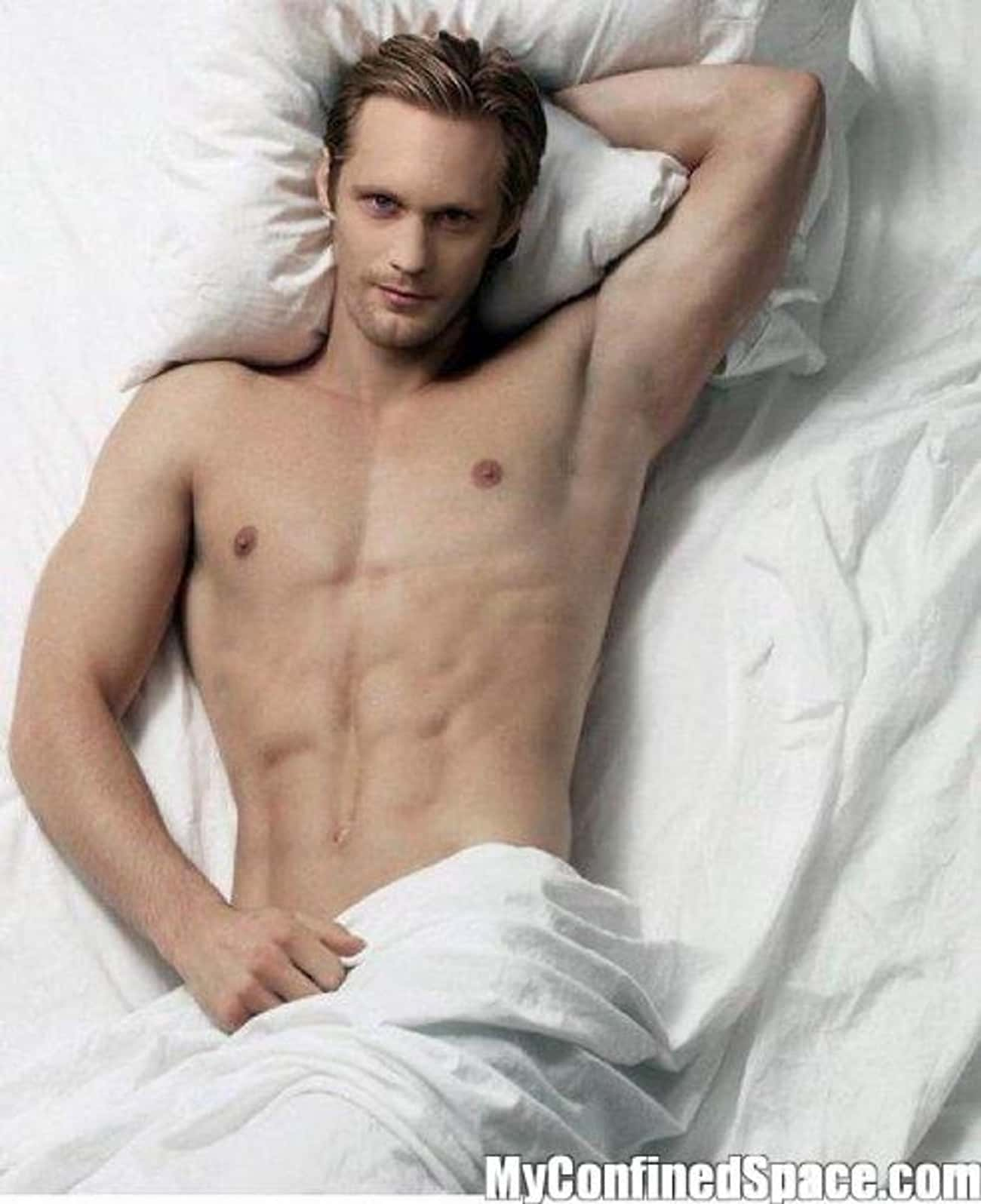 Alexander Skarsgard in White B is listed (or ranked) 1 on the list Hot Alexander Skarsgard Photos