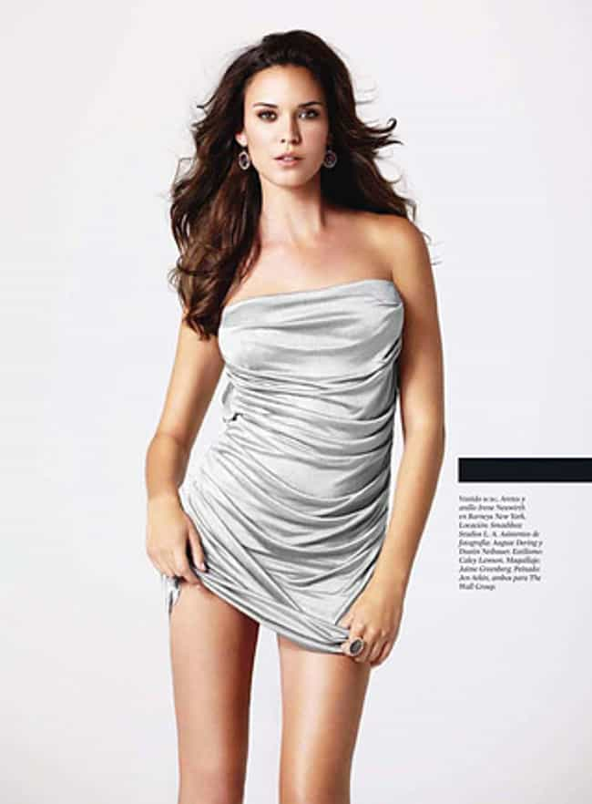 Odette Yustman in Silver Satin... is listed (or ranked) 2 on the list Hottest Odette Yustman Photos