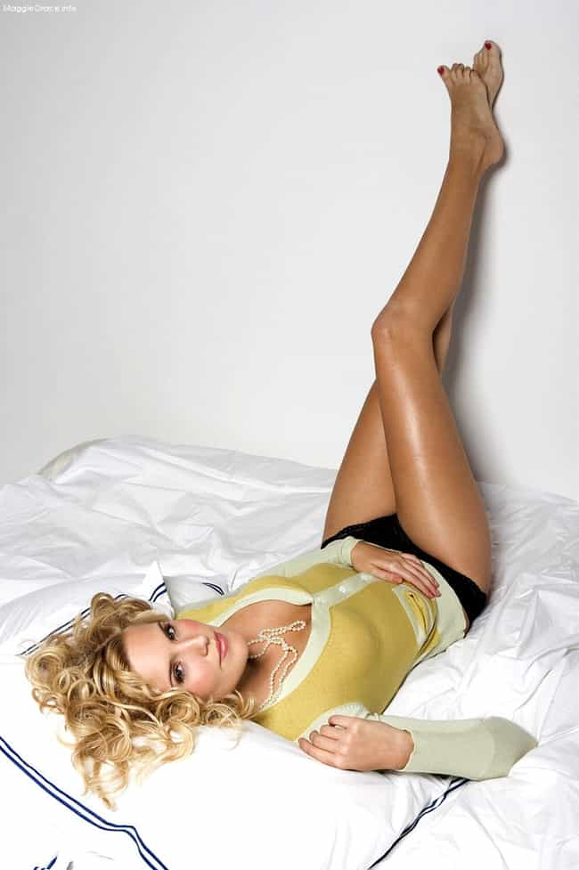 Maggie Grace in Cardigan Long ... is listed (or ranked) 2 on the list The Hottest Maggie Grace Photos