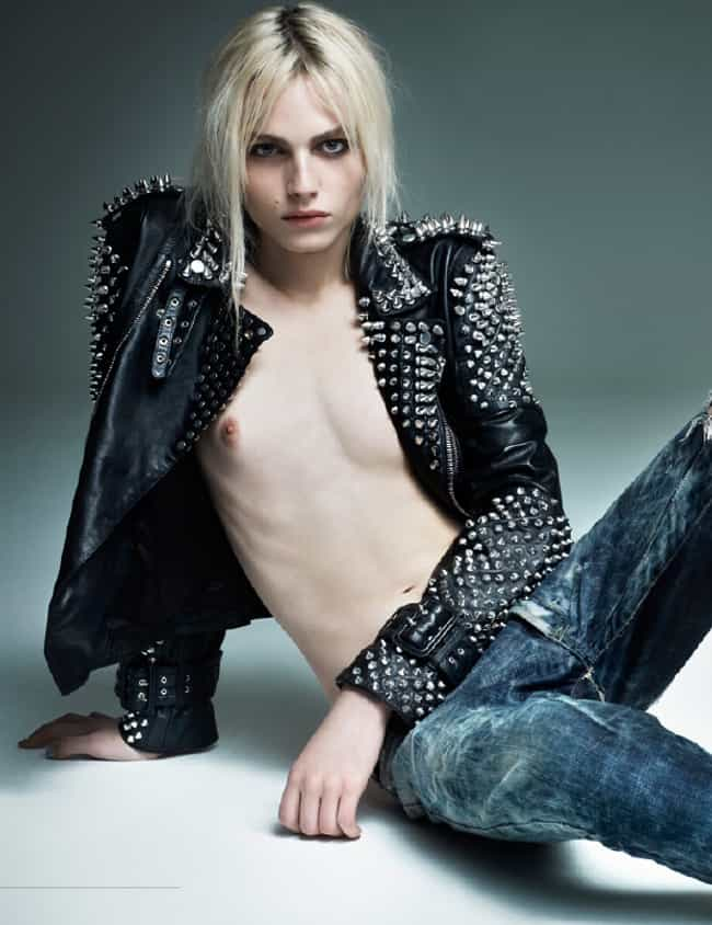 Andrej Pejic in Leather Jacket... is listed (or ranked) 3 on the list Hot Andrej Pejic Photos