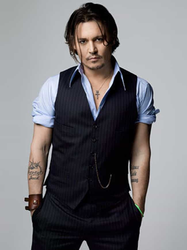 Johnny Depp in Stripes Waistco... is listed (or ranked) 4 on the list Hot Johnny Depp Photos