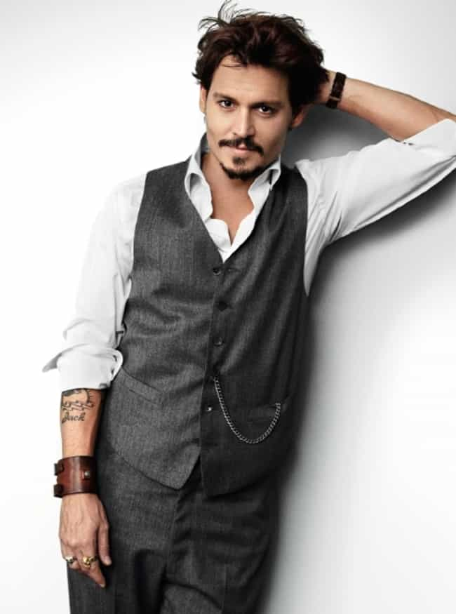 Johnny Depp in Grey Casual Wai... is listed (or ranked) 1 on the list Hot Johnny Depp Photos