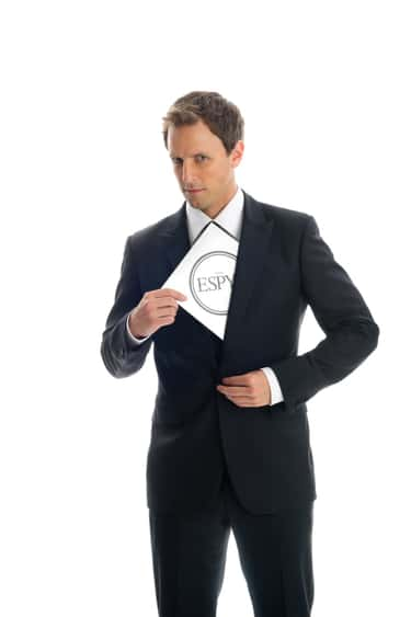 Seth Meyers in Single Button Slim Fit Tuxedo