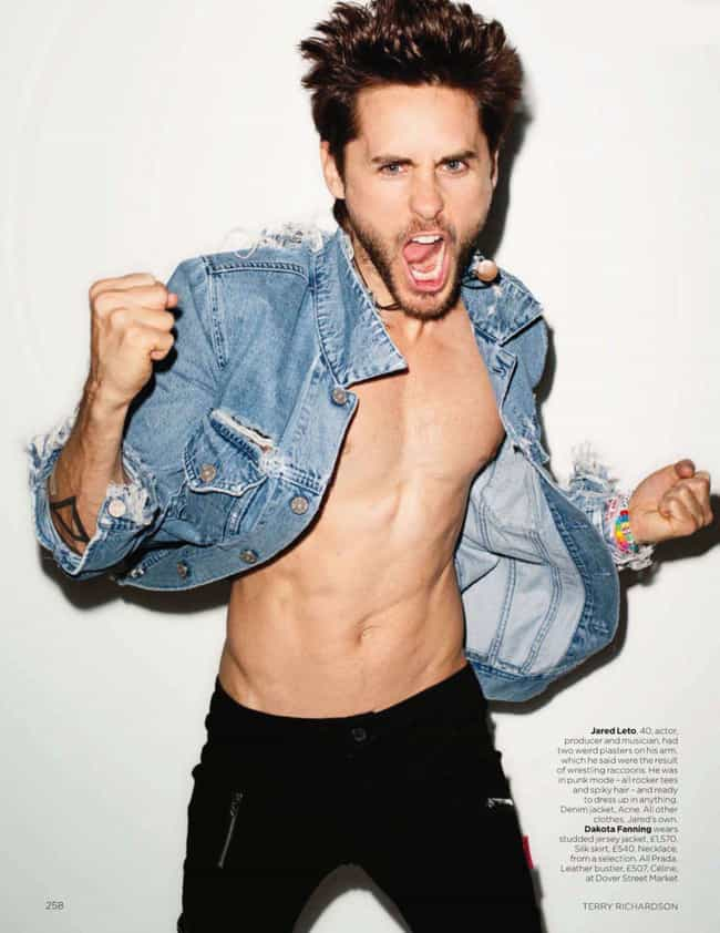 Jared Leto in Denim Jack... is listed (or ranked) 4 on the list Hot Jared Leto Photos