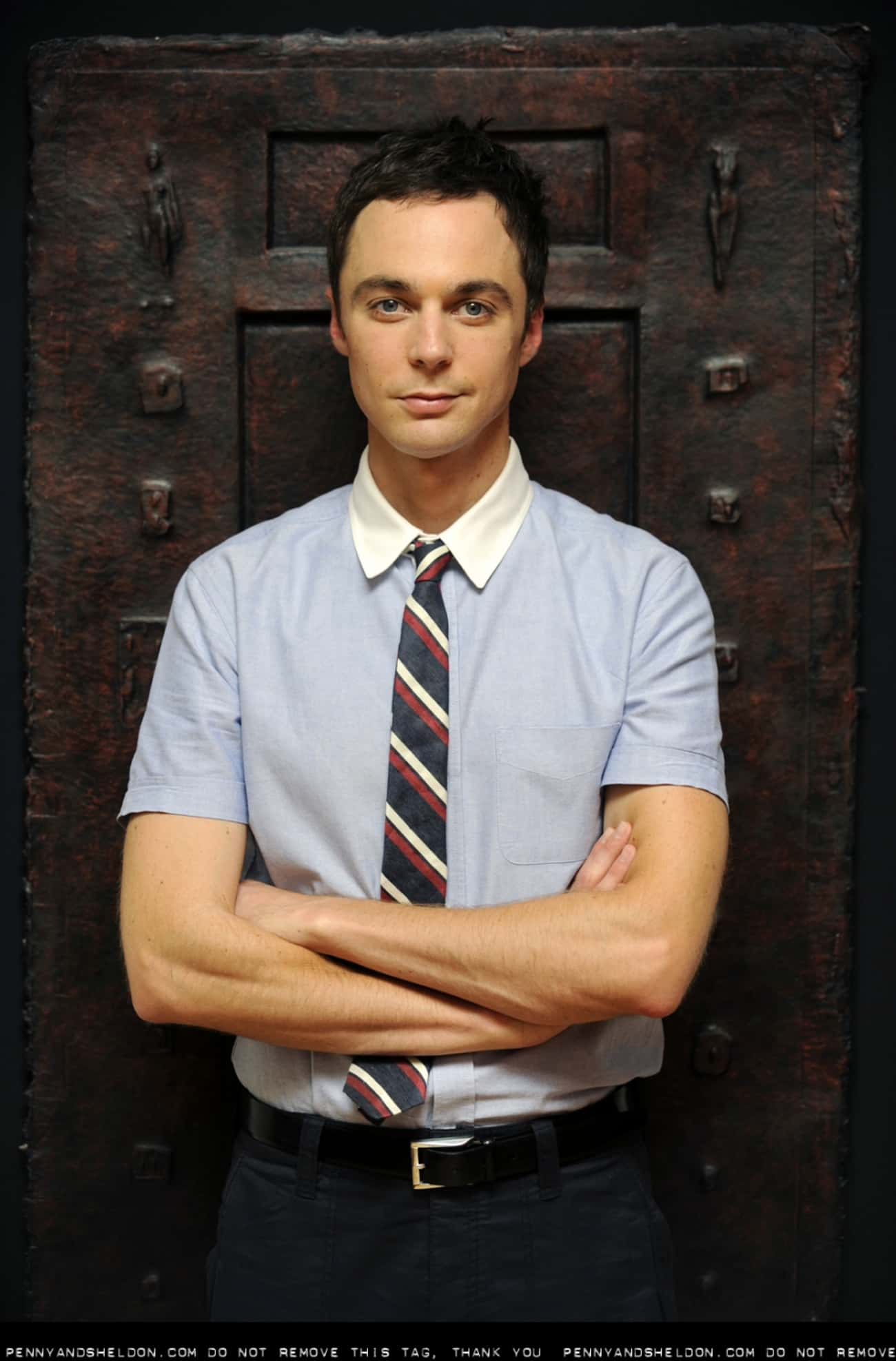 Jim Parsons in Contrast Collar is listed (or ranked) 1 on the list Hot Jim Parsons Photos