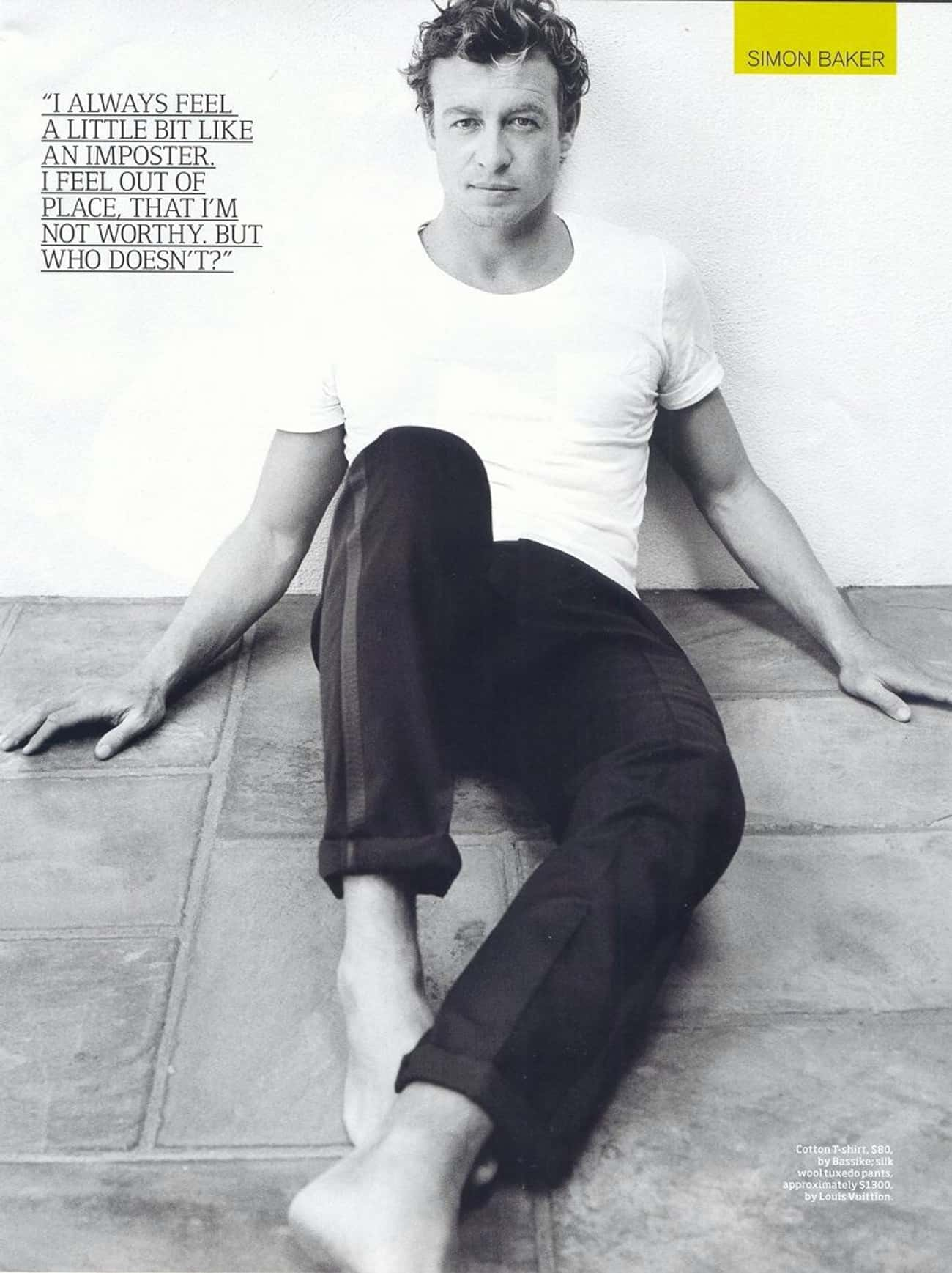Simon Baker in Cotton T-Shirt  is listed (or ranked) 1 on the list Hot Simon Baker Photos