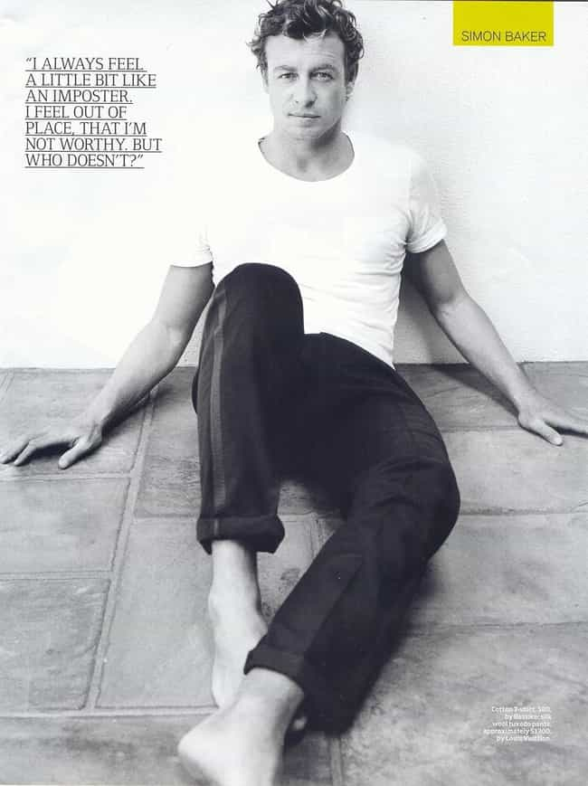 Simon Baker in Cotton T-Shirt ... is listed (or ranked) 2 on the list Hot Simon Baker Photos