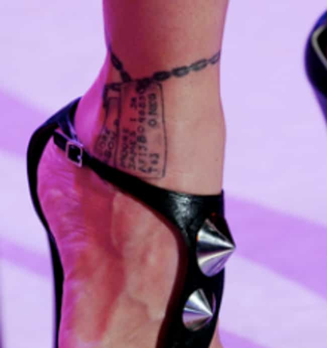 Dog Tags is listed (or ranked) 3 on the list A Gallery of Pink's Tattoos