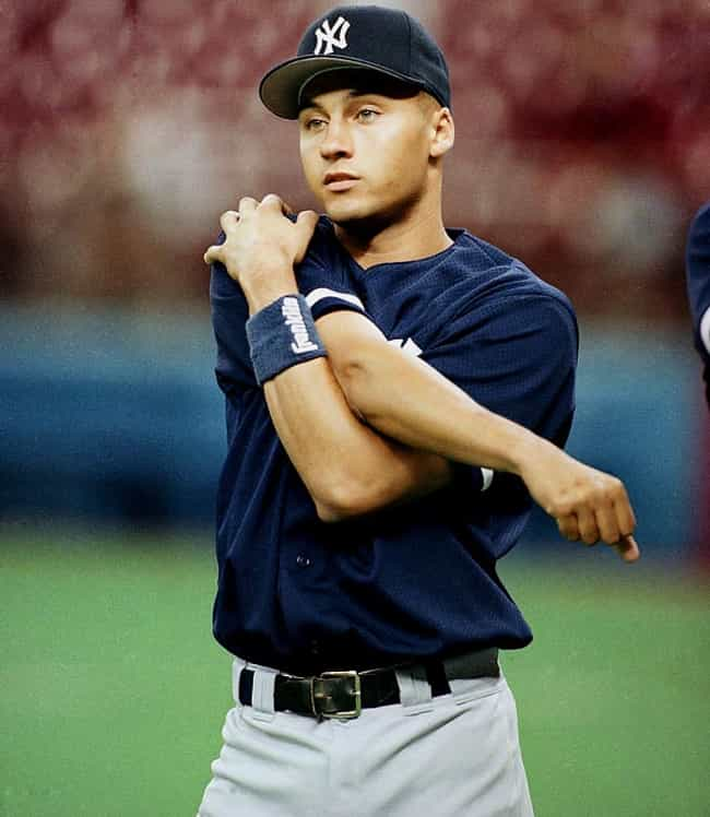Derek Jeter in Blue Franklin S... is listed (or ranked) 3 on the list Hot Derek Jeter Photos