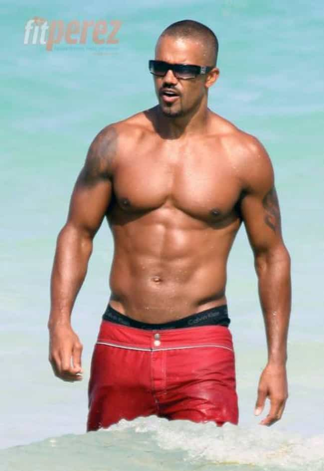 Shemar Moore in Red Short with... is listed (or ranked) 3 on the list Hot Shemar Moore Photos
