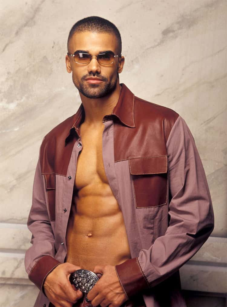 Shemar Moore in Long Sleeve with Contrast Shoulder