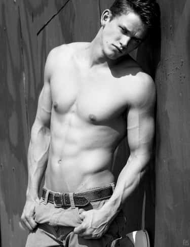 Zach Roerig in Shirtless with Belted Jeans
