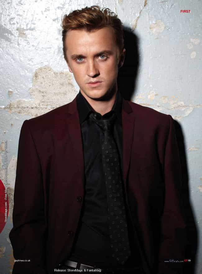 Tom Felton in Maroon Euro Blaz... is listed (or ranked) 3 on the list Hot Tom Felton Photos