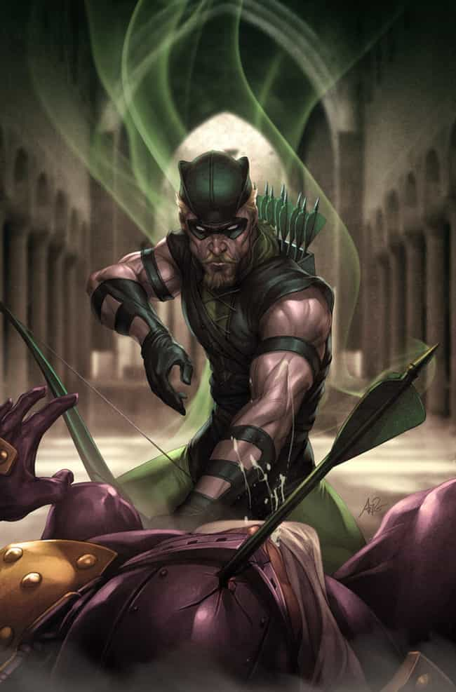 Green Arrow (Oliver Queen) is listed (or ranked) 4 on the list The Top 10 Hottest Male Superheroes of DC
