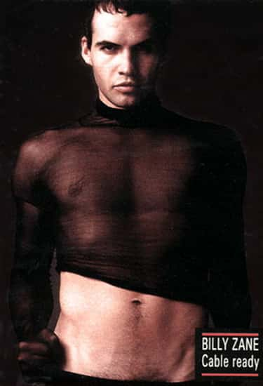 Billy Zane in See Through Long Sleeve Top