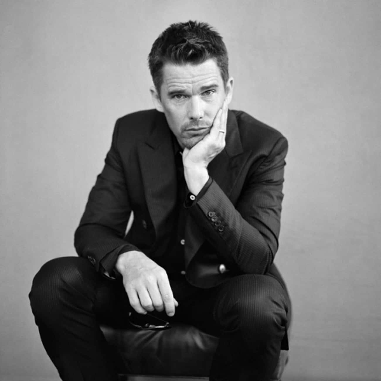 Ethan Hawke in Double Breasted Lightweight Suit