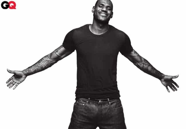LeBron James in Black Crew Nec... is listed (or ranked) 3 on the list Hot LeBron James Photos