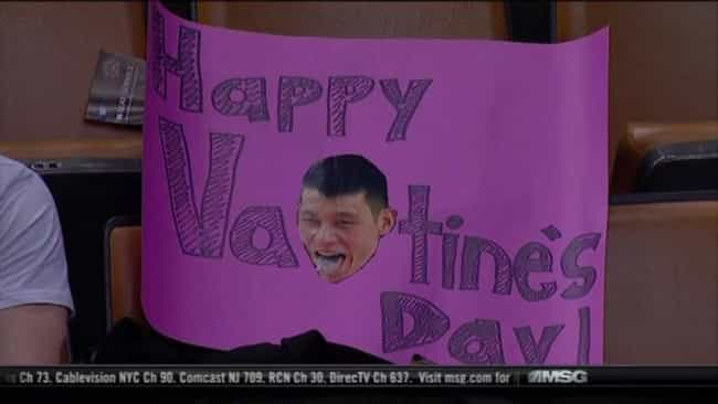 Happy VaLINtine's Day is listed (or ranked) 4 on the list The Most Ridiculous Jeremy Lin Fan Signs