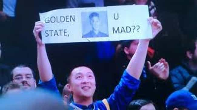 Golden State, U Mad? is listed (or ranked) 3 on the list The Most Ridiculous Jeremy Lin Fan Signs