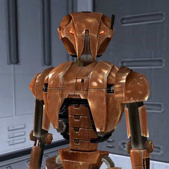 HK-47 is listed (or ranked) 1 on the list Very Unknown Video Game Characters Who Deserve Credit