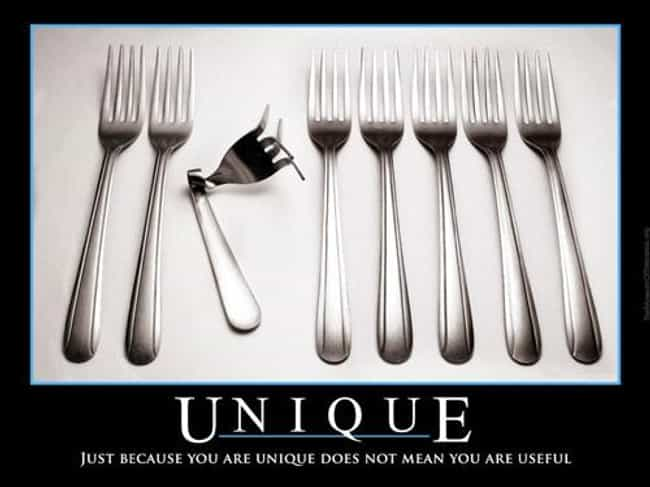 Unique Is Listed Or Ranked 1 On The List 36 Funniest Demotivational Posters