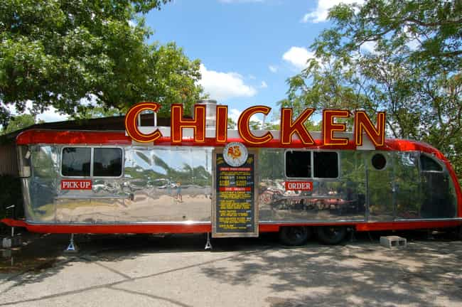 Ms. P's Electric Cock is listed (or ranked) 2 on the list The Best Austin Food Trucks