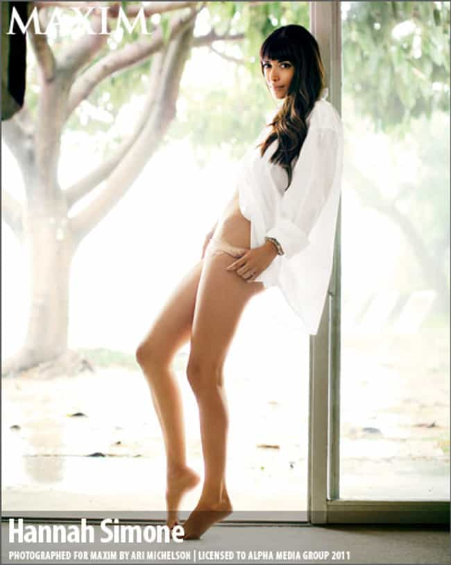 Hannah Simone in Oversized Lon... is listed (or ranked) 2 on the list The Hottest Hannah Simone Photos